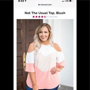 Not the usual top, blush